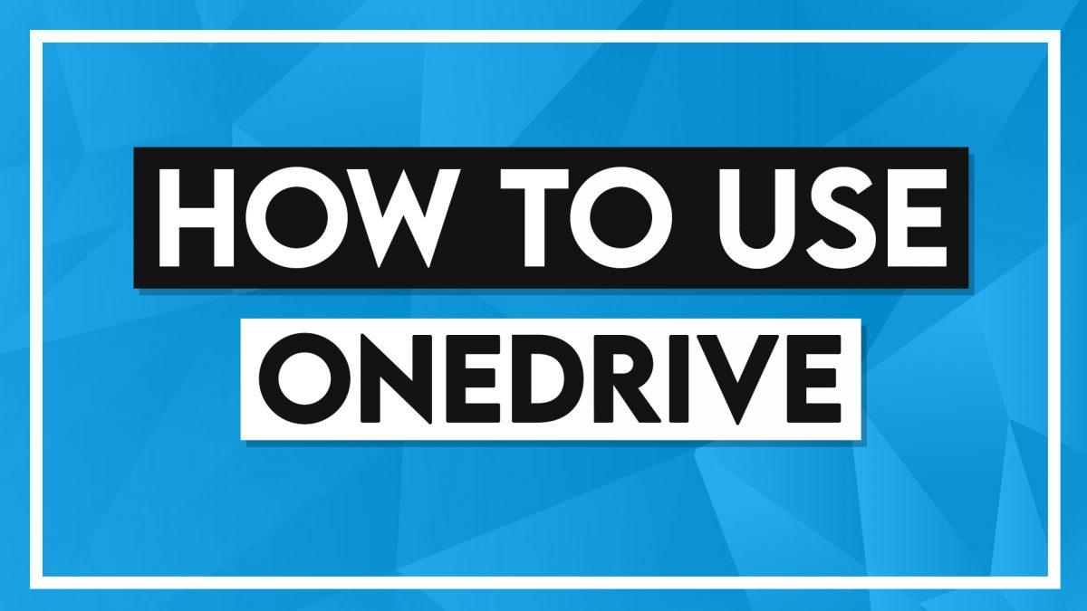 Comment utiliser OneDrive?