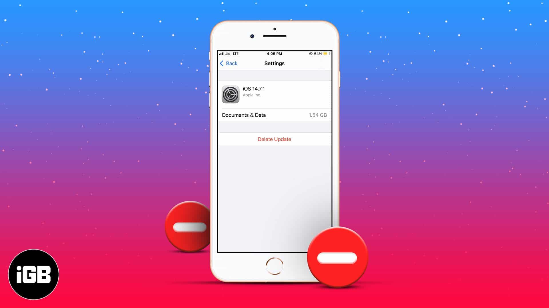 Comment supprimer une mise à jour iPhone?
