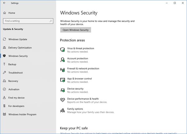 Comment faire fonctionner Windows Defender?